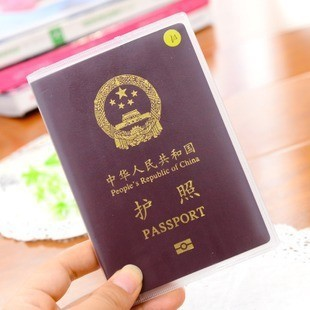 A138 Practical Ripstop Waterproof Passport Cover Protective Case Dull Polish Transparent Documents PVC Card Holder