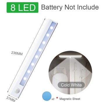 Motion Sensor Wireless LED Night Lights Bedroom Decor Light Detector Wall Decorative Lamp Staircase Closet Room Aisle Lighting 7