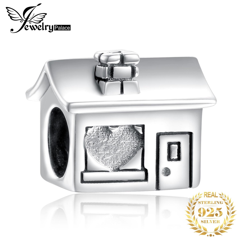 JewelryPalace Casa Da Família 925 Grânulos de Prata Esterlina Encantos de Prata 925 Original Para Pulseira De Prata 925 original Fazer Jóias