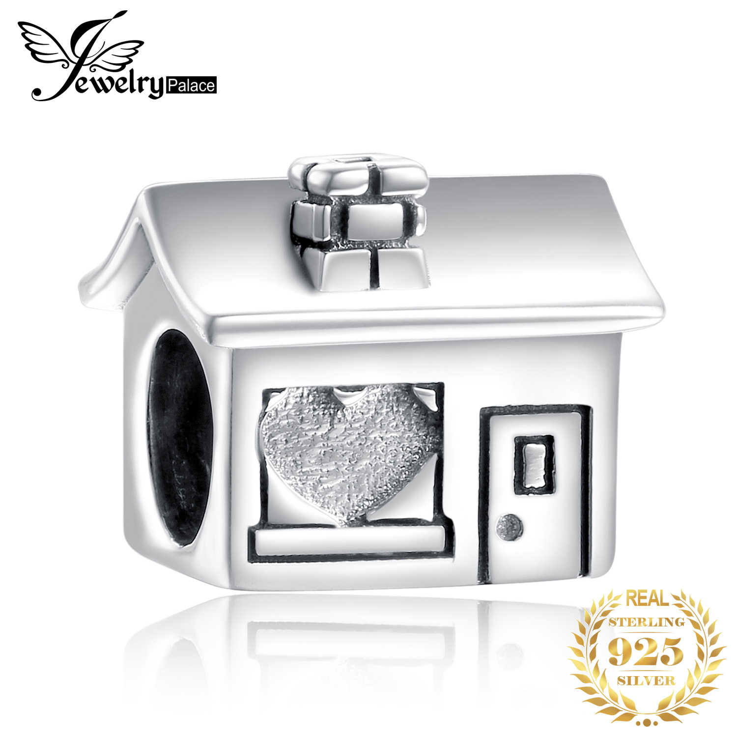 JewelryPalace Family House 925 Sterling Silver Beads Charms Silver 925 Original For Bracelet Silver 925 original Jewelry Making