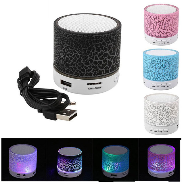 Mini Bluetooth LED Portable Speakers Wireless Speaker With TF Mic Blutooth Music For Xiaomi HUAWEI Phone