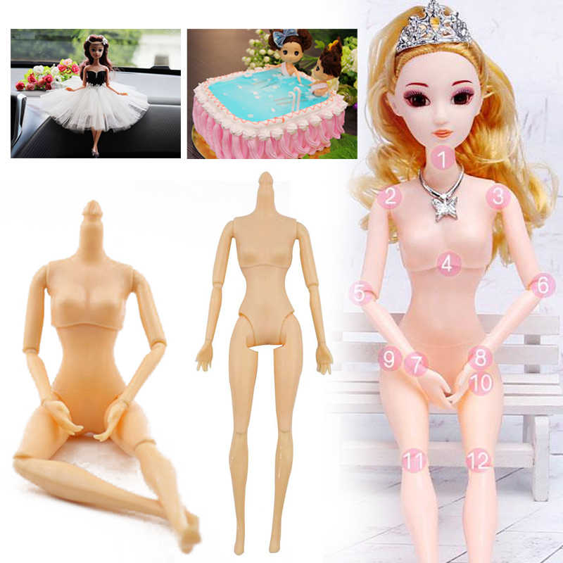 11.5 Inch Naked Doll Body 12 Moveable Joints Doll Kids Children Plastic