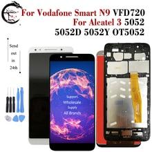 LCD Para Vodafone Inteligente N9 VFD720 VFD 720 Completa LCD Screen Display Toque Digitador Assembléia Para Alcatel 3 5052 5052D 5052Y Exibição