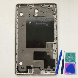 """Image 1 - الإسكان الخلفي الغطاء الخلفي لسامسونج تبويب S T700 T705 غالاكسي 8.4 """"الأصلي هاتف تابلت جديد الأوسط الإطار لوحة استبدال أدوات"""