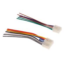 """6 3 """"samochodowe stereo przewód Audio wtyczka z adapterem do okablowania 10pin + 6pin dla Toyota tanie tanio perfeclan"""