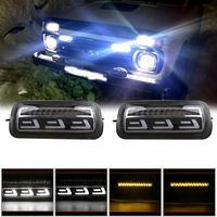 2Pcs LED Daytime Running Lights for Lada Niva 4x4 1995 Running Turn Signal Car Styling Accessories Tuning Lamp With DRL