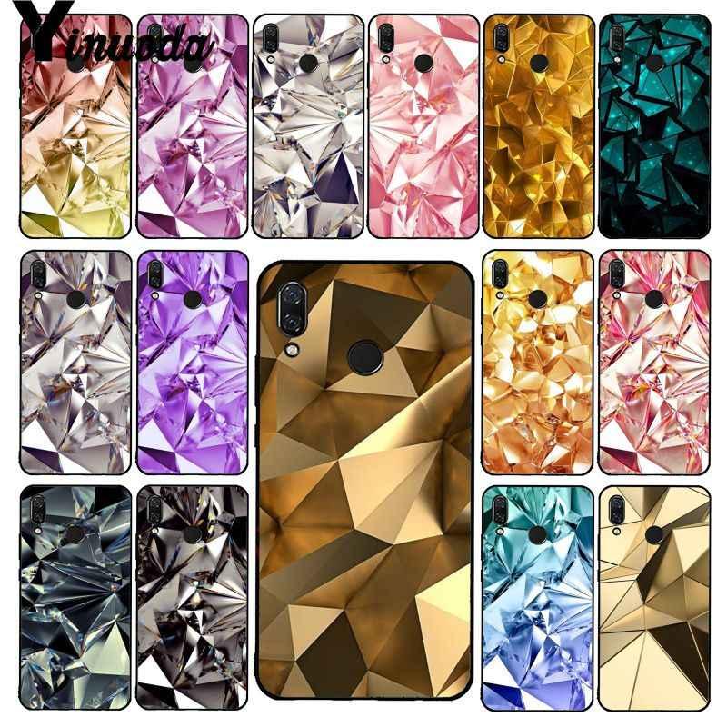 Yinuoda geométrico ouro roxo rosa diamante caso de telefone para xiaomi redmi8 4x 6a s2 ir redmi 5 5 plus note8 note5 7 note8pro