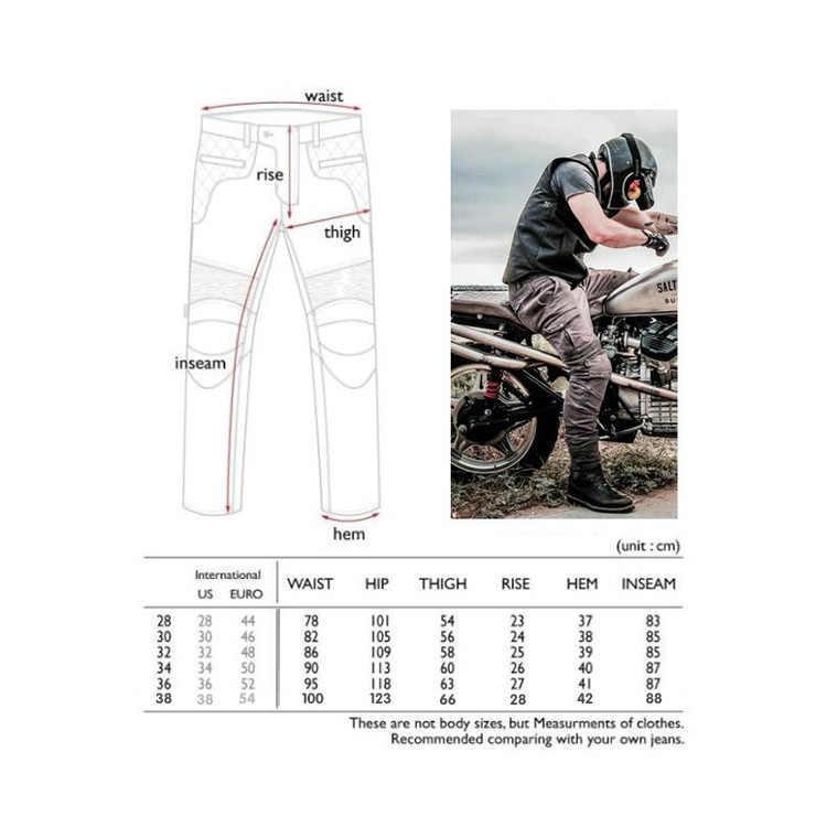 LOONG BIKER andare in moto i jeans uomini e donne modelli anti-caduta pantaloni moto Kevlar resistente all'usura pantaloni di riciclaggio pantaloni