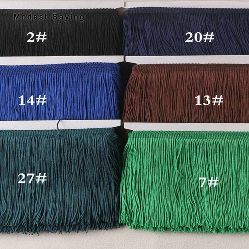 10 Yards 30cm Lace Fringe Trim Tassel Fringe Trimming For DIY Latin Dress Evening Gown Clothes Garment Accessories Lace Ribbon