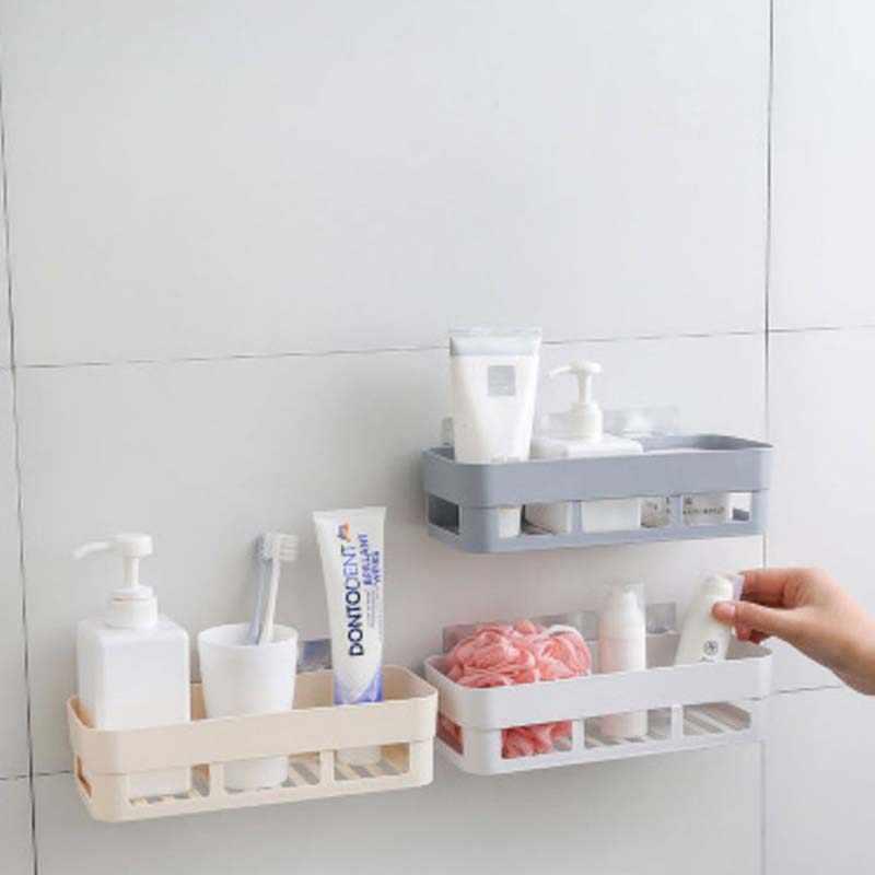욕실 액세서리 샤워 선반 원활한 원활하게 욕실 스토리지 랙 바구니 흔적 스티커 없음