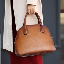 Tote Purse Shell-Bags Shoulder-Handbag Cowhide Mini Fashion Women's Lady Classic Hot-Sales