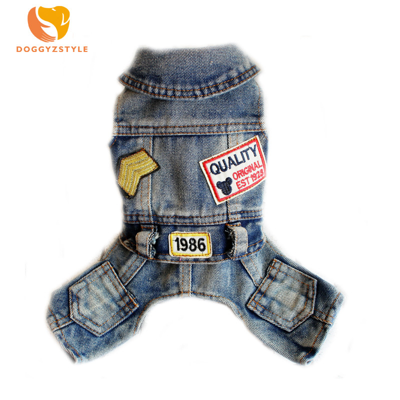 Four-Legs-Patch-Jeans-Dog-Clothes-for-Pet-Clothing-Cool-Spring-Jumpsuit-Jacket-Denim-Overalls-Leisure