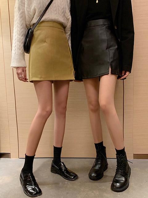 Купить spring summer black skirt 2020 new korean fashion style sheath