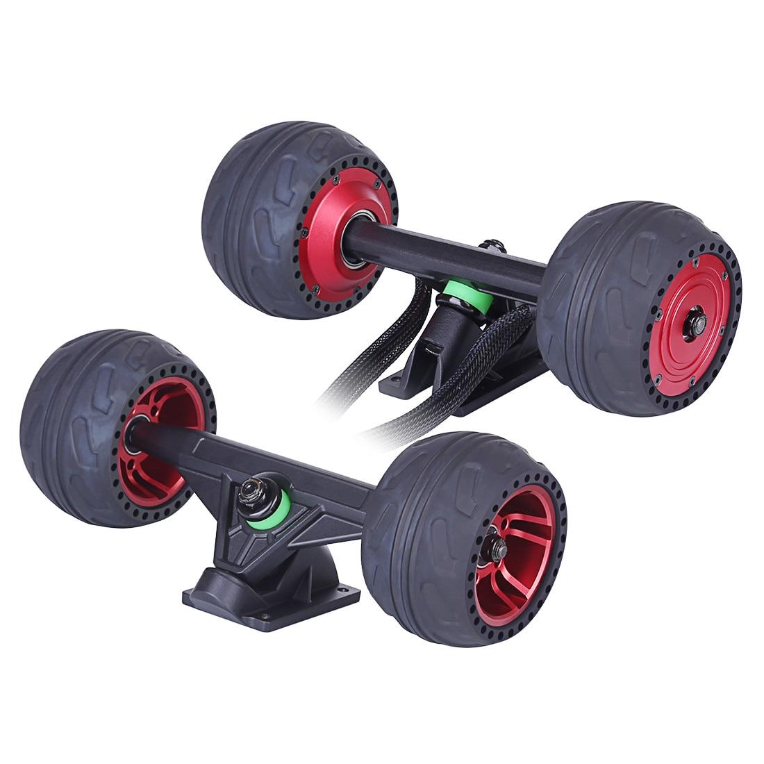 High Recommed 105LMH Hub Motor Set - Black/Red (Hub Motor + Front Wheel + Trucks)