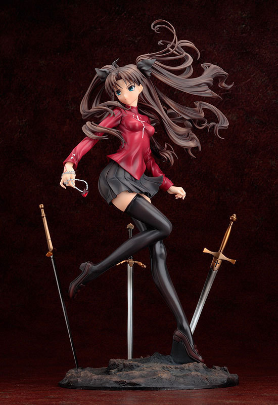 Fate stay Night FGO Zero WAVE Tohsaka Rin Ishtar in Red Dress Sexy girl Saber Nero PVC Action Figure Unlimited Blade Works Model