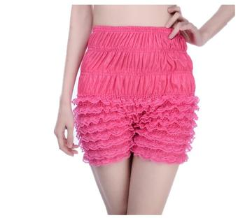 Summer Sexy Womens Ruffle Panties Dance Bloomers Lace Lingerie Sissy Frilly Knickers Pettipants Layered Boyshort Underwear Women
