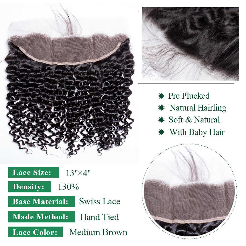 Virgo Hair Deep Wave Hair 4X4 5X5 6X6 Lace Closure with Bundles Human Hair Bundles with Closure / Frontal 4 pcs/Lot Remy Hair