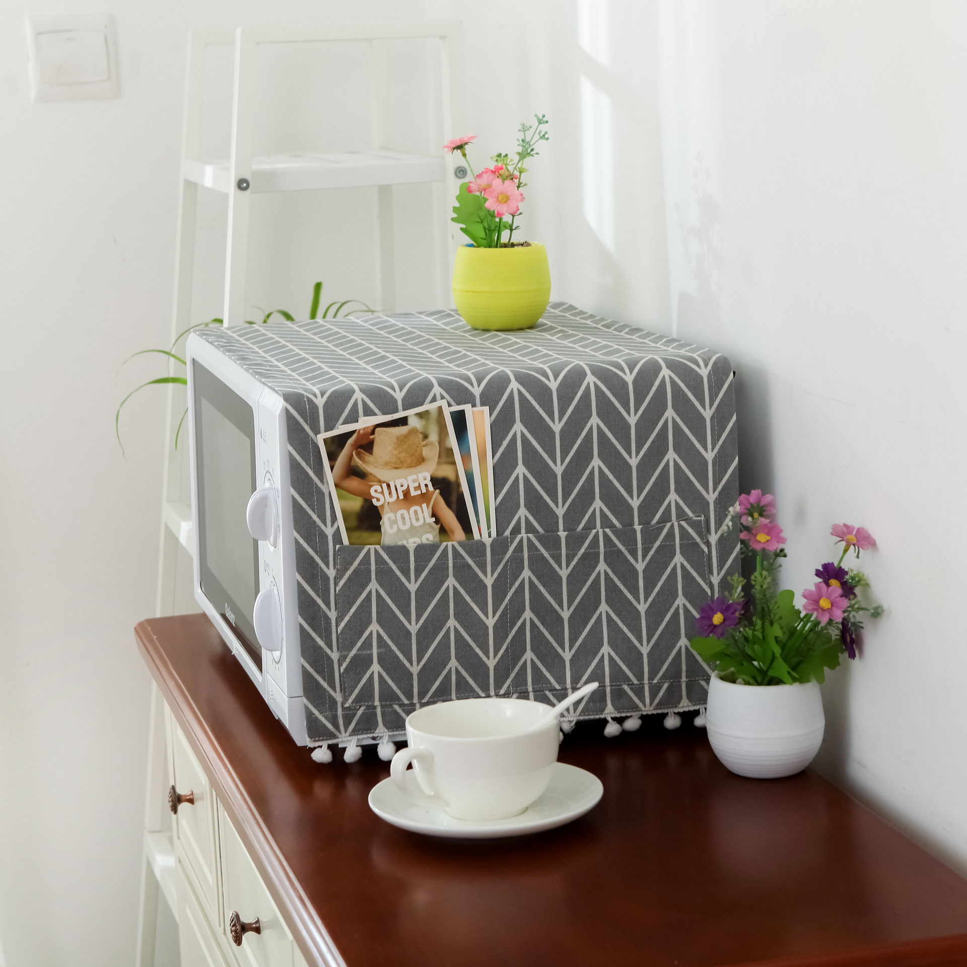 Nordic Cotton And Linen Cloth General Microwave Oven Cover Dust Cover Oven Cover Electric Oven Cover