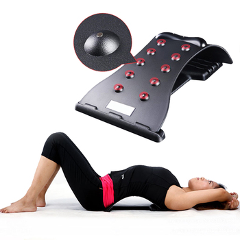 Wielofunkcyjny masaż pleców magnetyczny nosze Fitness podparcie szyi lędźwiowej urządzenie relaksacyjne kręgosłupa ulga w bólu chiropraktyka tanie i dobre opinie Composite Material Średni Waist Masaż i relaks Back Massager Black Correcting spine Back Massager Stretcher Fitness Massage Equipment