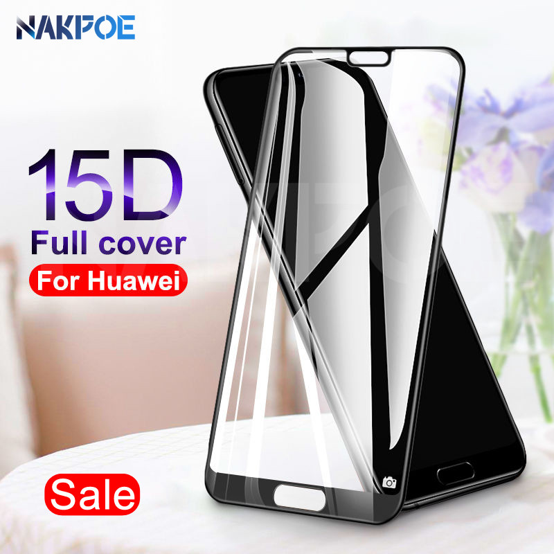 15D Tempered Glass On The For Huawei P20 Lite P20 Pro Nova 3 3i 3E 4 4E 5 5i 5T P Smart Screen Protector Protective Glass Film