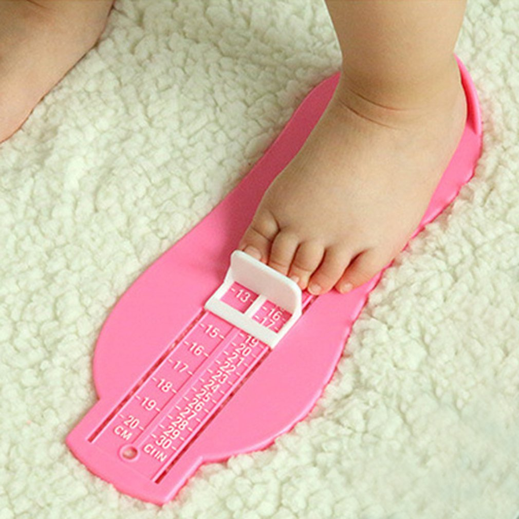 4 Colors Plastic Kids Infant Baby Foot Measure Gauge Shoes Size Measuring Ruler Tool Baby Shoes Measuring 0-20cm Gauge Device