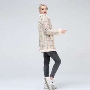 Image 3 - 2019 Real Sheep Shearing Autumn Winter Womens Tops Warm Leather Coat Women Vest New Fashion Sheepskin Sweater Vest Coat