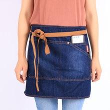 Weeyi джинсовый фартук с бантом и коротким фартуки для Пособия