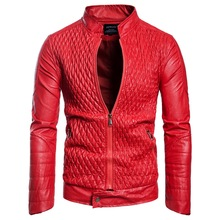 European and American Mens Leather Long Sleeve ZipperLeather CardiganJacket Jacket Men Jackets for