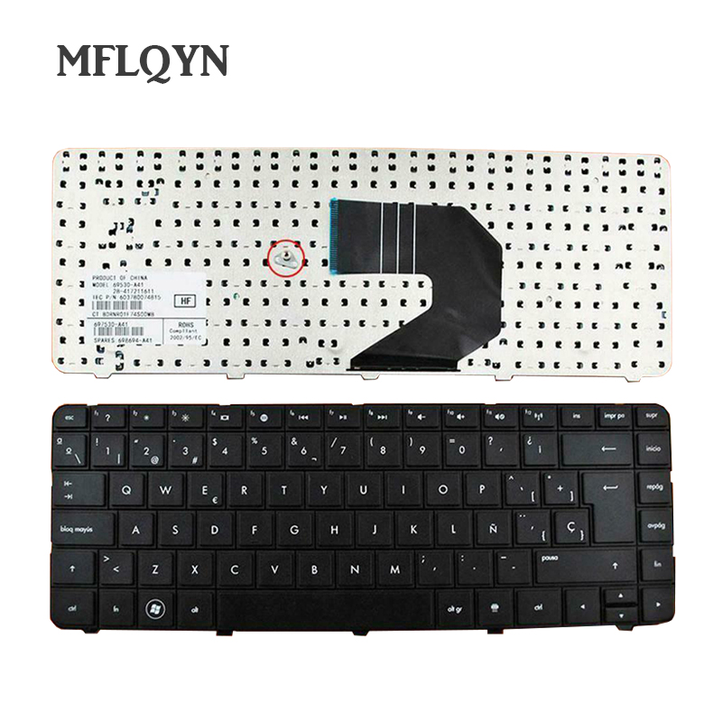 Spanish <font><b>Keyboard</b></font> for <font><b>HP</b></font> Pavilion G4-1000 G6 G6-1000 Presario CQ43 CQ57 <font><b>430</b></font> 630 SP LA laptop <font><b>Keyboard</b></font> 698694-161 646125-161 BLACK image