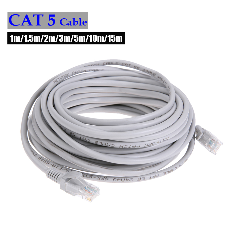 CAT5e Ethernet Cable RJ45 Ethernet Network LAN Cable High Speed Router Computer Cables For PC Router Laptop  1/1.5/2/3/5/10m/15m