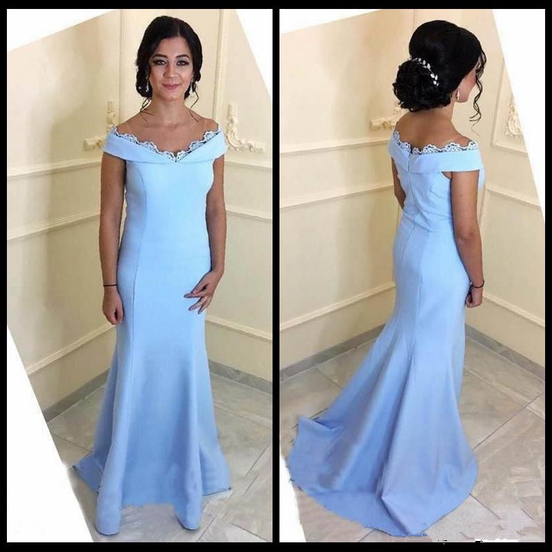 2019 Elegant Long Mermaid Mother Of The Bride Dresses Cap Sleeve Lace Weddings Arabic Party Evening Gown