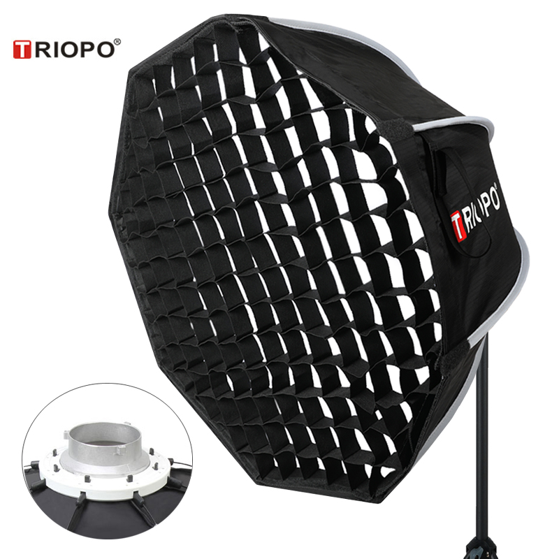 Triopo 90cm Photo Portabe Bowens Mount Softbox W/ Honeycomb Grid K90 Octagon Umbrella Outdoor Soft Box For Godox Jinbei Strobe