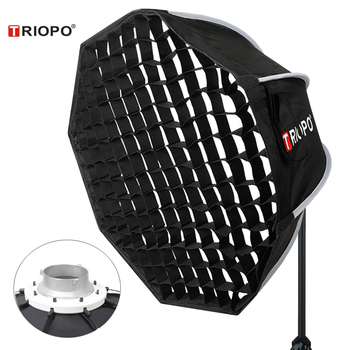 Triopo 90cm Photo Portabe Bowens Mount Softbox w/ Honeycomb Grid K90 Octagon Umbrella Outdoor Soft Box for Godox Jinbei Strobe jinbei 13cm 5 portable umbrella reflector bowens mount photography accessories for flash strobe light