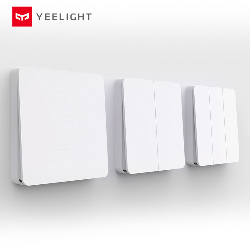 Yeelight Smart Wall Switch Self-Rebound Design Support Slisaon For Ceiling Light YLKG12YL/YLKG13YL/YLKG14YL
