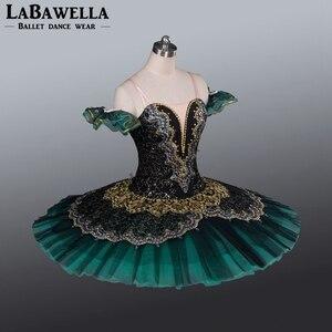 Image 3 - 女性パンケーキバレリーナ盛り合わせステージ衣装チュチュ BT8941G プロのバレエチュチュヒスイラエスメラルダ大人