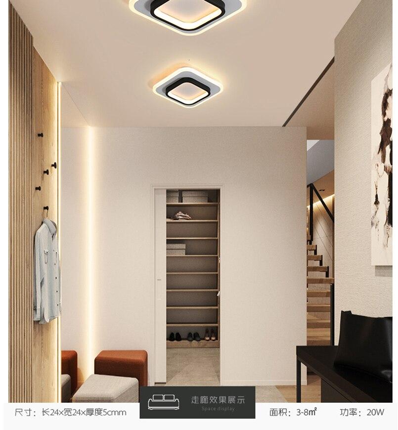 He5fb8f73c3f24be69b34494d2b9f93baT LICAN Modern LED Ceiling Lights for bedroom bedside Aisle corridor balcony Entrance Modern LED Ceiling Lamp for home