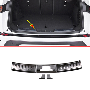Black and Silver Stainless Steel Rear Bumper Plate Protect Cover For Range Rover Range Rover Evoque(L551)2019 2020 Accessories