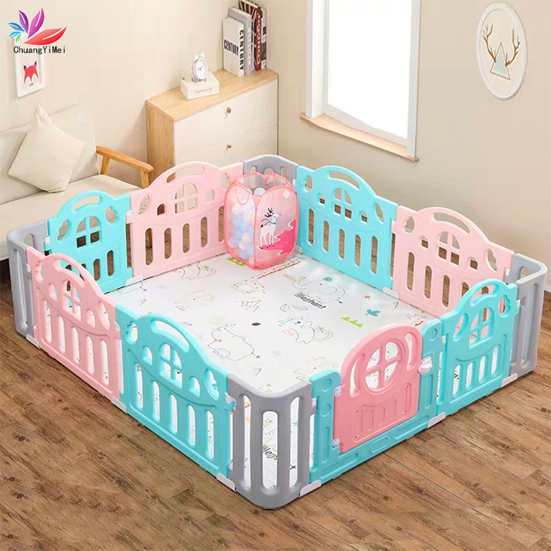 Baby Playpen For Children Pool Balls For Children  Fence Playpen Kids Safety Barrier Gift 100pcs Plastic Ball And Play Mat M098