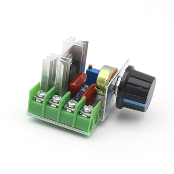 Thermostat Electronic Voltage Regulator Module 2000W SCR   Dimming Dimmers Motor Speed Controller AC 200V 2000w scr voltage regulator dimming dimmers motor speed controller thermostat electronic voltage regulator module