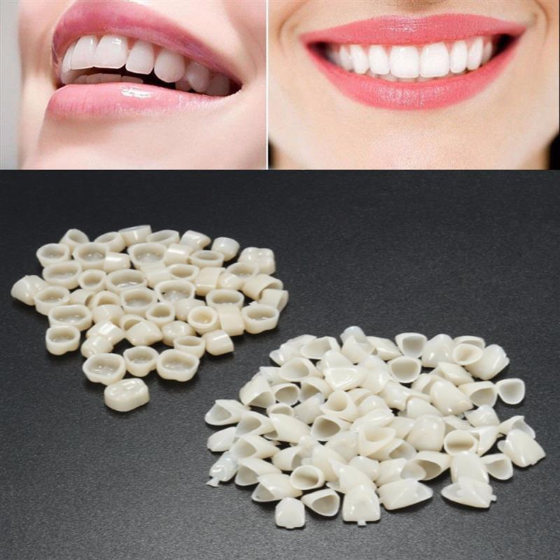 50Pcs/Lot Dental Veneers Temporary Crown Ultra Thin Resin Whitening Teeth Anterior Shade Dentist Tooth Veneers For Oral Care