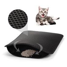 New Waterproof Pet Cat Litter Mat EVA Double Layer Cat Litter Pads Trapper Mat folding Non-slip Pet Litter Mat Cat Supplies