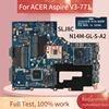 Carte mère REV.2.1 pour ordinateur portable ACER Aspire, VA70, VG70, SLJ8C, DDR3