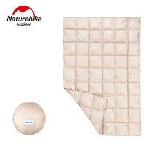 Naturehike зимнее уличное одеяло на гусином пуху, стеганое одеяло, комфортное, сохраняющее тепло, утолщенное, для кемпинга, спальное одеяло, кровать под одеяло