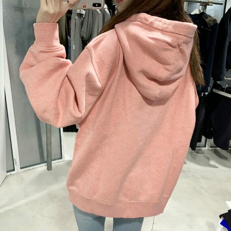 Women Hoodie 2019 Autumn And Winter New Hooded Plus Velvet Sweatshirt