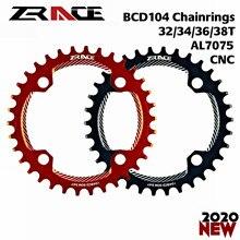 Новые цепные щитки ZRACE для колес 32 T/34 T/36 T/38 T BCD104, узкая ширина зуба AL7075 CNC для MTB