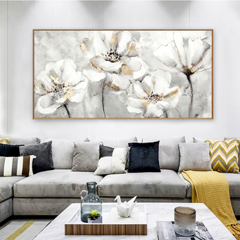 100% Hand Painted Abstract Flower Art Oil Painting On Canvas Wall Art Frameless Picture Decoration For Live Room Home Decor Gift 2020 christmas gift modern paintings abstract gold oil painting 100% hand painted on canvas for living room decoration wall art
