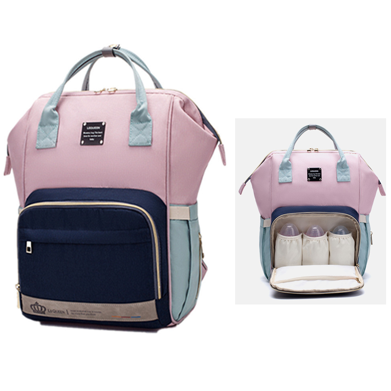 LEQUEEN Waterproof Diaper Bag For Mommy Maternity Nappy Backpack Baby Organizer Nursing Changing Travel Mother Women Bag To Care