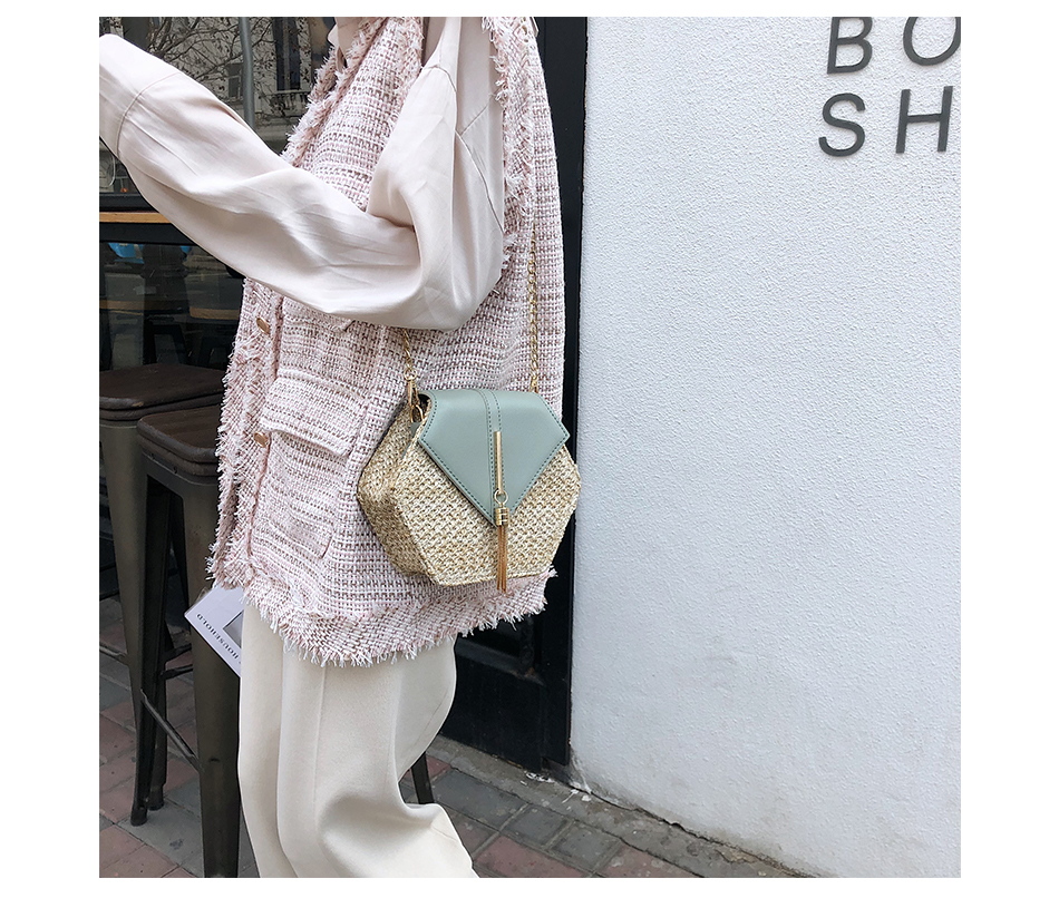 He5fc2fb17dec4111b44367da0abb87fdD - Mulit Style Straw leather Handbag Women Summer Rattan Bag Handmade Woven Beach Circle Bohemia Shoulder Bag New Fashion