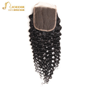 Image 3 - Joedir変態カーリーバンドル閉鎖カーリーブラジル毛織りバンドルとともに1閉鎖の人間のヘアエクステンション