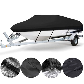 Yacht Boat Cover 11- 20FT Barco Boat Cover Anti-UV Waterproof Heavy Duty 210D Marine Trailerable Canvas Boat Accessories 1 39m x 1 85m size black car auto heavy duty use waterproof marine boat decorate vinyl fabric upholstery mildew resistant